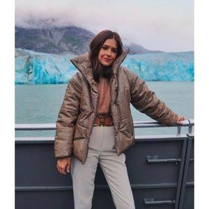 Nanushka Hide puffer jacket vegan leather